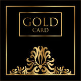 Vector gold card cover design. Excellent Cover template for promotion, business card, beauty, fashion, restaurant Stock Photo