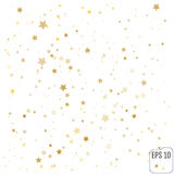 Vector gold confetti background for luxury greeting rich card. G. Old Confetti celebration, Falling golden abstract decoration for party, birthday celebrate Stock Photos