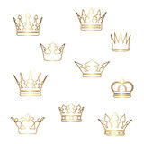 Vector gold crowns Stock Images