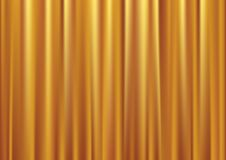 Vector gold curtain Royalty Free Stock Image