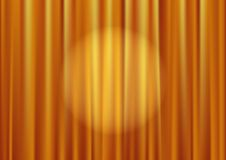 Vector gold curtain Royalty Free Stock Photos