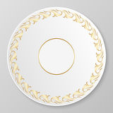 Vector gold decorative plate. Royalty Free Stock Photo