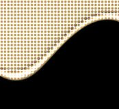 Vector Gold Dots Wave On Black Royalty Free Stock Image
