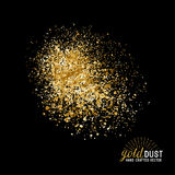 Vector Gold Dust Royalty Free Stock Photos