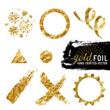 Vector Gold Foil Collection Stock Images