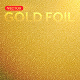 Vector gold foil texture background. Royalty Free Stock Photos