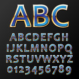 Vector gold font Royalty Free Stock Image