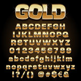 Vector gold font Stock Images