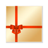Vector gold gift box. Royalty Free Stock Photos