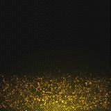 Vector gold glitter dust texture. Transparent glitter sparkle trail Royalty Free Stock Photos
