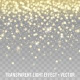 Vector Gold Glitter Effect transparent Background. Star Dust Sparks. Eps10 Vector Background Stock Images