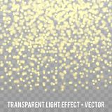 Vector Gold Glitter Effect transparent Background. Star Dust Sparks. Eps10 Vector Background Stock Photos