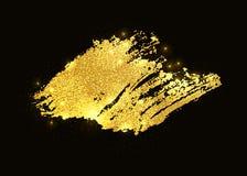 Vector gold glitter paint smear stroke stain. Abstract gold glittering textured art illustration. vector illustration