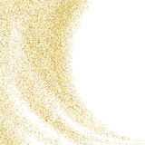Vector gold glitter wave abstract background, golden sparkles on white background, Gold glitter card design.  illustration v. Vector gold glitter wave abstract Stock Photography