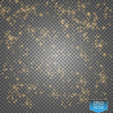 Vector gold glitter wave illustration. Gold star dust trail sparkling particles  on transparent background. Magic concept Stock Image
