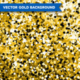 Vector Gold Glittering background Stock Photo