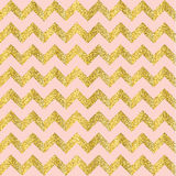 Vector Gold glittering heart seamless pattern Royalty Free Stock Photos