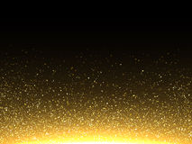 Vector gold glittering particles. Sparkling shimmering dust. Royalty Free Stock Photo