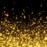 Vector gold glittering sparkle background Royalty Free Stock Photos