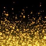 Vector gold glittering sparkle background royalty free illustration