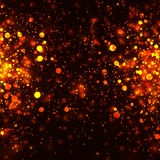 Vector gold glowing light glitter background. Chrisrmas golden magic lights background Royalty Free Stock Photography