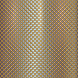 Vector gold grille on steel background Royalty Free Stock Image