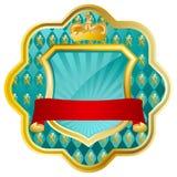 Vector gold heraldic symbol Stock Photos