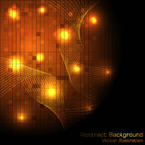 Vector Gold Hi-tech Background Stock Images