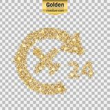 Vector gold icon Royalty Free Stock Photo
