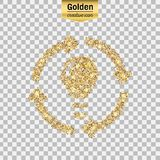 Vector gold icon Royalty Free Stock Image