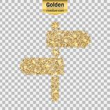 Vector gold icon Stock Images
