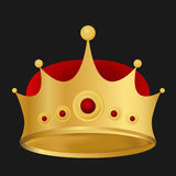 Vector of Gold king crown in eps10 Stock Image