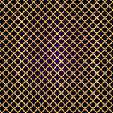 Vector gold lattice on black background Royalty Free Stock Images