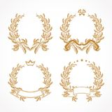 Vector gold laurel branches. Royalty Free Stock Images