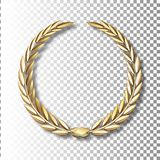 Vector gold laurel wreath.Laurel wreath with golden ribbon. EPS 10 vector illustration