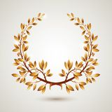 Vector gold laurel Stock Photography