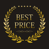 Vector gold laurel wreath with sample text Royalty Free Stock Images