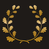 Vector gold laurel wreath with sample text Stock Images