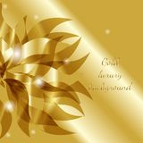 Vector gold luxury floral abstract background with flower. For business presentation, greeting card, wedding invitation and other design royalty free illustration
