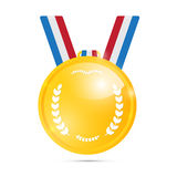 Vector Gold Medal, Award Stock Photography