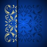 Vector gold oriental arabesque pattern background with place for Royalty Free Stock Photos