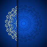 Vector gold oriental arabesque pattern background with place for Stock Image