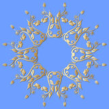 Vector gold ornament. Royalty Free Stock Photos