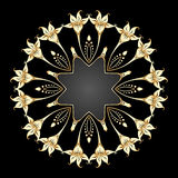 Vector gold ornament. Royalty Free Stock Photography