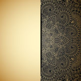 Vector gold ornament. Vector illustration with vintage gold ornament and place for text Royalty Free Stock Photo