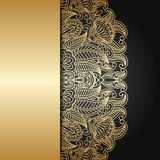 Vector gold ornament. Royalty Free Stock Photo