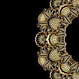 Vector gold ornament. Royalty Free Stock Images