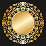 Vector gold ornament. Stock Image