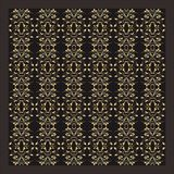 Vector gold ornament pattern stock image