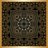 Vector gold ornament. Vector set of borders, decorative elements for design, print, embroidery Stock Images